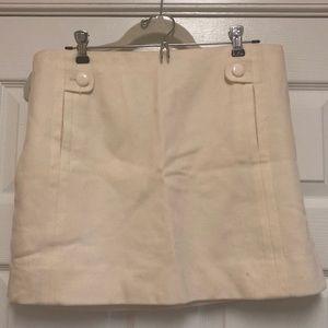 EUC J.Crew Plaid Wool Mini Skirt -  Size 10